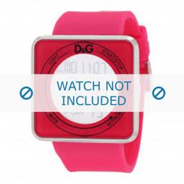 Dolce & Gabbana klokkerem DW0737 Gummi / plast Rosa 28mm