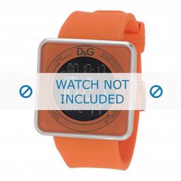 Klokkerem Dolce & Gabbana DW0738 Gummi Oransje 28mm