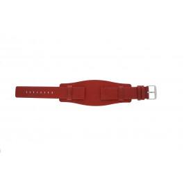 Klokkerem Universell B0223 Lær Rød 20mm
