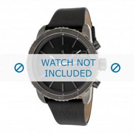 Diesel horlogeband DZ5329 Leder Zwart 22mm