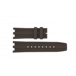 Klokkerem Dolce & Gabbana DW0764 / F360006010 Gummi Brun 27mm