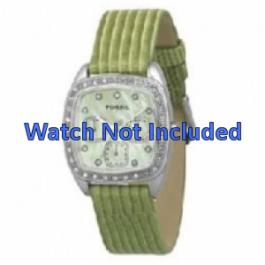 Klokkerem Fossil ES1010 Lær Grønn 18mm