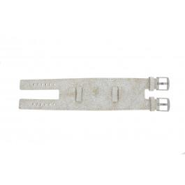 Klokkerem Universell UI30 Lær Hvit 24mm