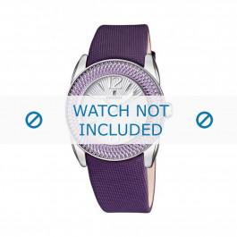 Klokkerem Festina F16592/4 Lær Purple 21mm