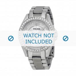 Fossil klokkerem ES3202 Push pin  Metall Sølv 18mm