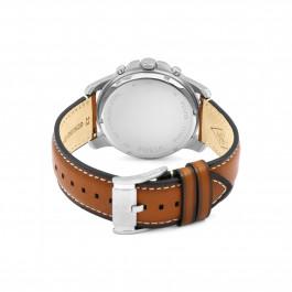 Fossil klokkerem FS5210 Lær Brun 22mm + søm hvit