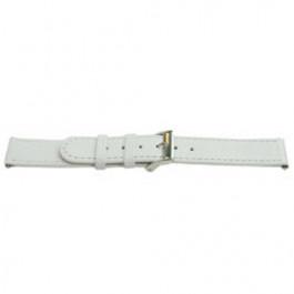 Klokkerem Universell C500 Lær Hvit 12mm