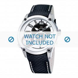 Jaguar klokkerem J630/1 / J630/1 / J630/2 / J630/3 / J630/A / J630/B / J630/C / J630/D / J630/E / J630/F / J630/G / J630/H  Lær Svart 24mm + søm hvit
