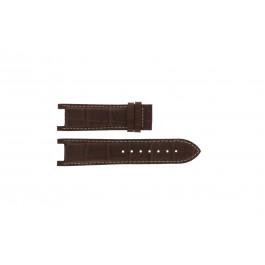 Klokkerem Guess GC41501G / 145003G1 / I50001G1 Lær Brun mørk 12.8mm