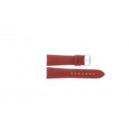 Klokkerem Davis B0194.20 Lær Rød 20mm
