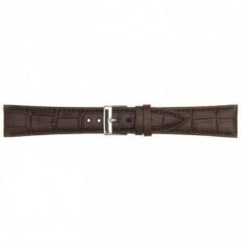 klokkerem i lær mørk brun 18mm PVK-497