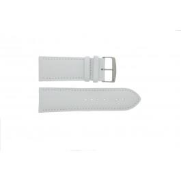 Klokkerem 306.09 Lær Hvit 24mm + standard sømmer