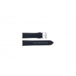Fossil (Smartwatches) klokkerem S221255 Lær Blå mørk 22mm