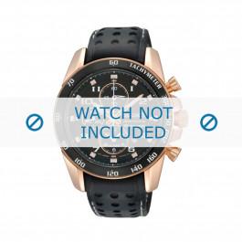 Klokkerem Seiko 7T62-0KV0 / SNAE80P1 / L01M015P0 Lær Svart 21mm