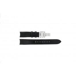 Seiko klokkerem SNA741P2 / 7T62-0GE0 Lær Svart 22mm + søm svart