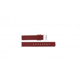 Skagen klokkerem 224SSLR Lær Rød 16mm