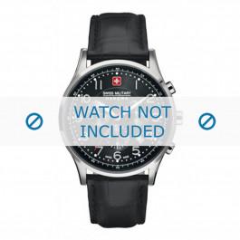 Klokkerem Swiss Military Hanowa 06-4187.04.007 Lær Svart 22mm