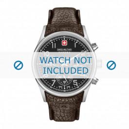 Klokkerem Swiss Military Hanowa 06-4278.04.007 / 06-4278.04.001.05 / STEEL BUCKLE LA-62 Lær Brun 24mm