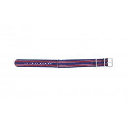 Klokkerem Timex TW7C07100 Tekstil Blå 20mm