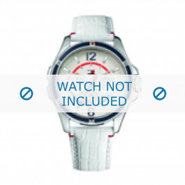 Klokkerem Tommy Hilfiger TH-78-3-18-0793 / TH679301058 Lær Hvit 20mm