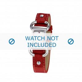Tommy Hilfiger klokkerem TH-09-3-14-0613 / TH679300818 / TH1780621 Lær Rød + søm rød