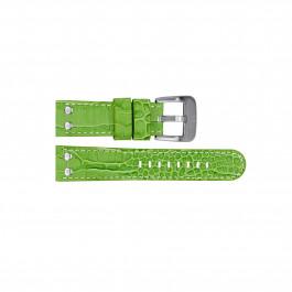 TW Steel klokkerem TWB32 Lær Grønn 22mm + søm hvit