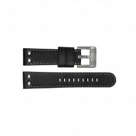 TW Steel klokkerem TWB62 Lær Svart 22mm + søm grå