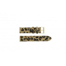 Guess klokkerem W16574L1 Lær Leopard 20mm