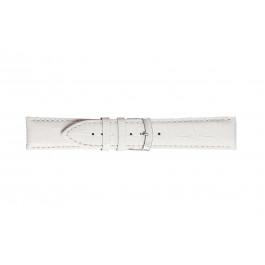 Morellato klokkerem Extra X3395656017CR26 / PMX017EXTRA26 Krokodilleskinn Hvit 26mm + standard sømmer
