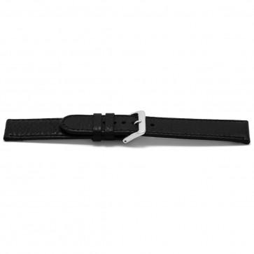 klokkerem lær svart 22mm EX-H113