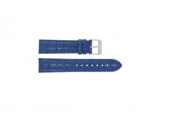 ekte lær krokodille blå 22mm PVK-285
