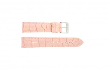 ekte lær krokodille rosa 22mm PVK-285