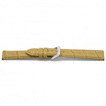 klokkerem lær beige gull 22mm EX-H339