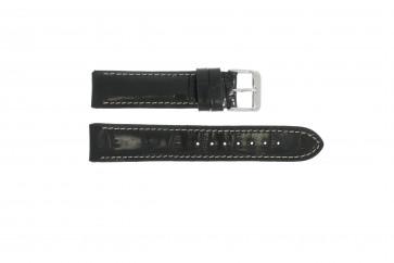 klokkerem i ekte lær krokodille svart WP-61324.18mm