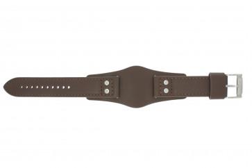 Klokkerem Fossil CH2565 Lær Brun 22mm