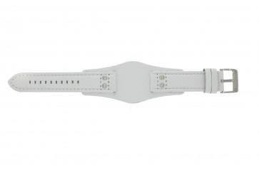 Fossil klokkerem CH2592 Lær Hvit 22mm