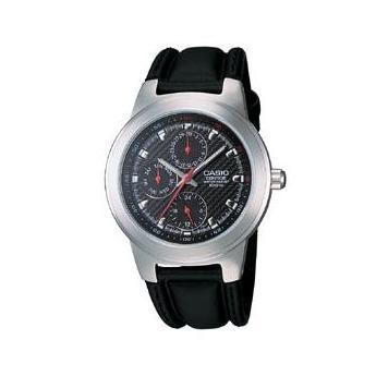 Casio klokkerem 10140042 Lær Svart 16mm