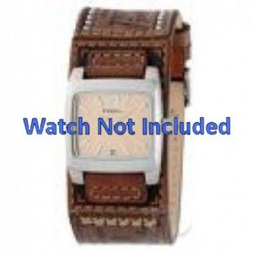 Fossil klokkerem JR-8829 Lær Brun 18mm