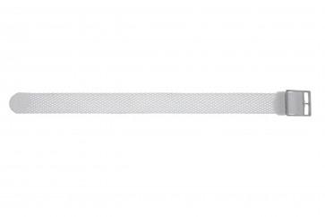 Klokkerem Universell PRLN.18.W Nylon/perlon Hvit 18mm