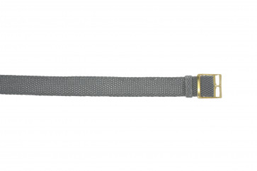 Perlon rem 14mm grå