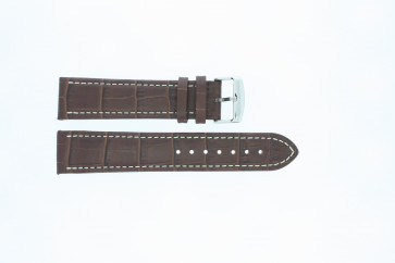 bøffelkalv medium brun med hvit søm 24mm 518