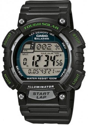 Denne klokke rem fra mærket Casio, plastik model 10462707 kan hæftes på urkassen med pushpins / trykpinde.