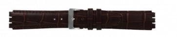 Rem for Swatch ekte lær mørk brun 17mm 21414