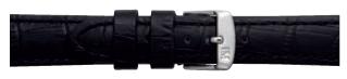 Morellato klokkerem Botero U2226480019CR24 / PMU019BOTERO24 Krokodilleskinn Svart 24mm + standard sømmer