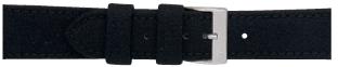 Morellato klokkerem Cordura/5 U2779110019CR24 / PMU019CORDUR24 Glatt lær Svart 24mm + standard sømmer