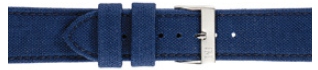 Morellato klokkerem Cordura/21 U2779110061CR24 / PMU061CORDUR24 Glatt lær Blå 24mm + standard sømmer