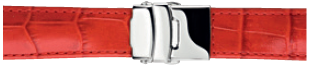 Morellato klokkerem Tipo Chronotech U3084656083CR24 / PMU083CHROTC24 Krokodilleskinn Rød 24mm + standard sømmer