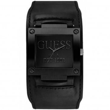 Klokkerem Guess W0418G3 / W1166G2 Lær Svart 19mm