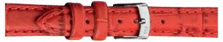 Morellato klokkerem Bolle X2269480083CR24 / PMX083BOLLE24 Krokodilleskinn Rød 24mm + standard sømmer
