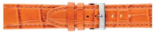 Klokkerem Morellato Bolle X2269480086CR24 Krokodilleskinn Oransje 24mm